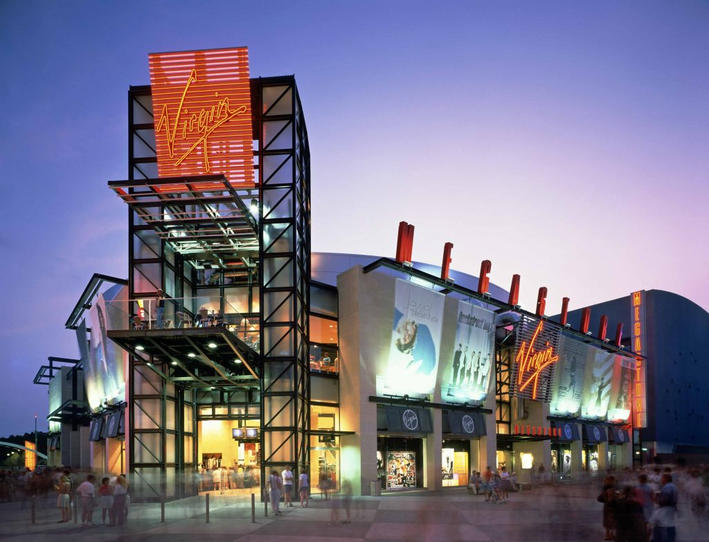 Virgin Megastore Elevating Platform